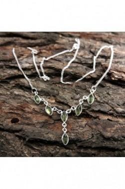 Silver Peridot Necklace