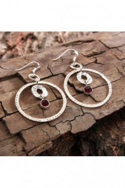 Bounded Garnet Earrings