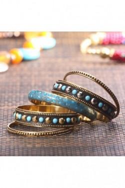 Brass & Resin Bangle
