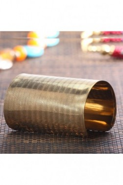 Patterned Brass Cuff