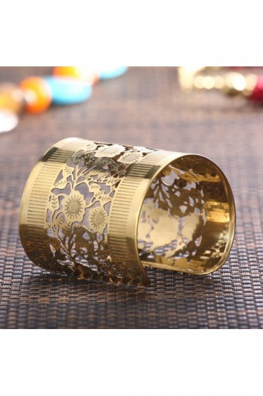 Banded Floral Cuff