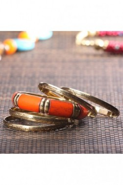 Crimson and Gold Bangles