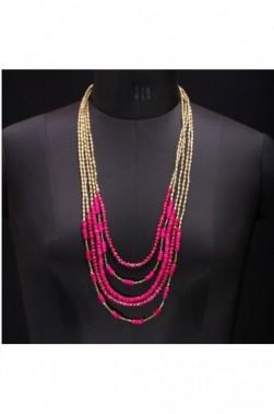 Fiery Bead Necklace