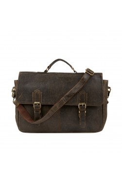 Briefcase Leather Messenger Bag