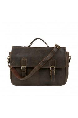 Briefcase Leather Messenger Bag