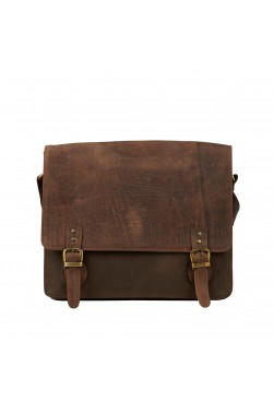 Distressed Leather Vintage Messenger Bag
