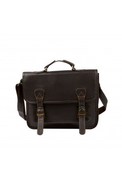 Dark Leather Messenger Bag