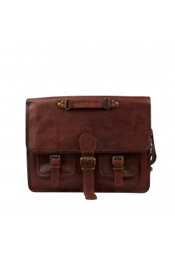 Rustic Look Leather Messenger Bag