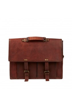 Men's Satchel Leather Messenger Bag
