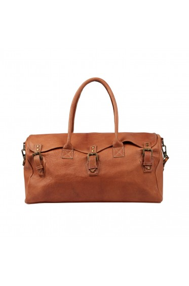The Weekender Leather Duffel Bag Carry On Men